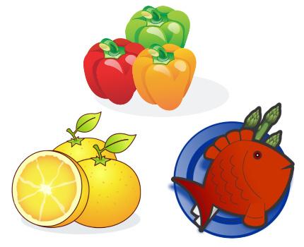 プリセット登録 野菜 果物 鮮魚