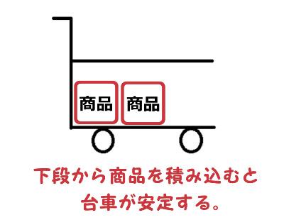 台車 商品 積み方 安全