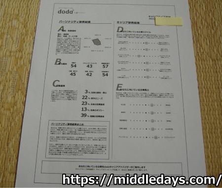 doda ICQキャリアタイプ診断 結果 印刷