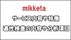 mikketa 登録 適性検査